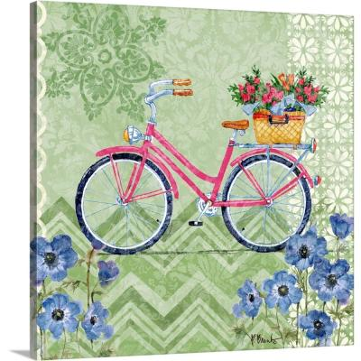 "16 in. x 16 in. ""Blossoming Cruiser II"" by  Paul Brent Canvas Wall Art"