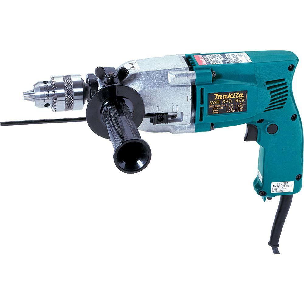 Makita 6 Amp 3/4 in. Corded 2-Speed Hammer Drill with Dep...
