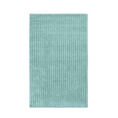 Sheridan Sea Foam 30 in. x 50 in. Washable Bathroom Accent Rug