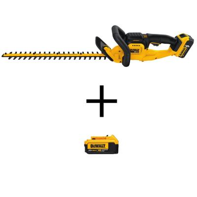 22 in. 20-Volt MAX  Cordless Hedge Trimmer with (1) 5.0Ah Battery, (1) 4.0Ah Battery, and Charger Included