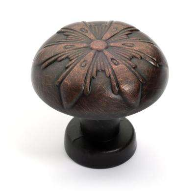 1-1/4 in. Oil Rubbed Bronze Starburst Cabinet Knob (25-Pack)