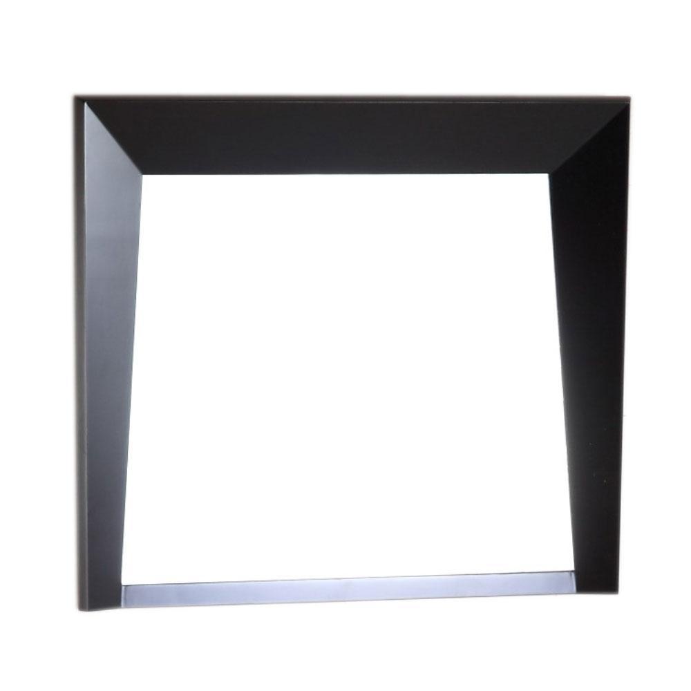 Coalinga 30 in. x 25.8 in. Single Framed Wall Mirror in Dark Espresso
