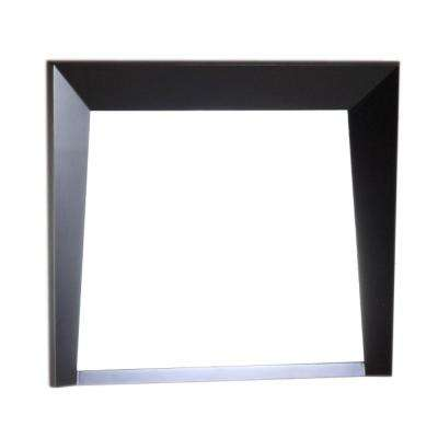 Coalinga 30 in. x 25.8 in. Single Framed Wall Mirror in Dark Espresso