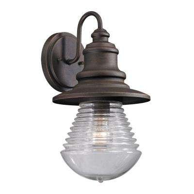 Gables Collection 1-Light Weathered Charcoal Outdoor Sconce
