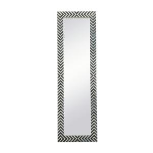 Large Rectangle Chevron Contemporary Mirror (60 in. H x 18 in. W)