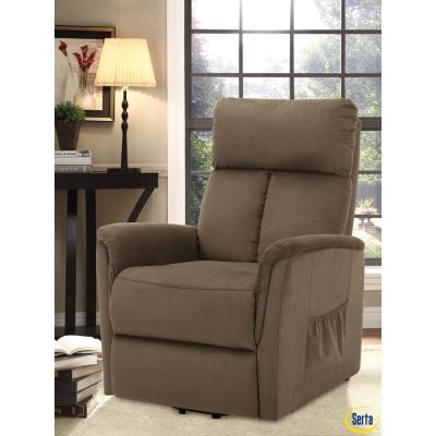 Elgin Serta Mocha Multi Function Lift Chair Recliner with Solid Hardwood Frame & High Density Foam Cushions