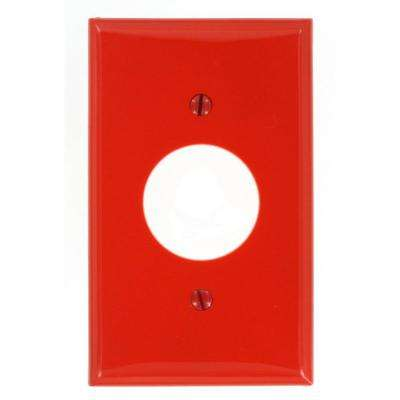 1-Gang Standard Size Nylon Wall Plate and 1-Single Receptacle in Red