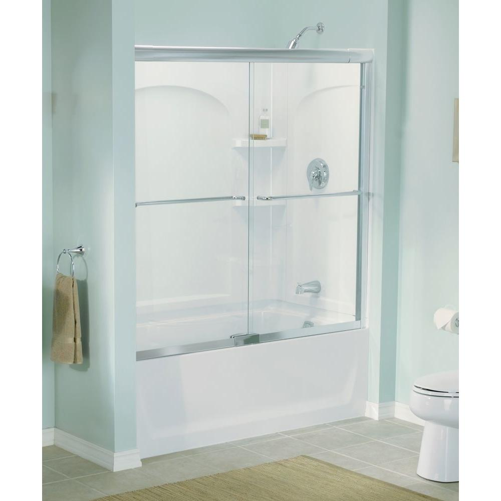 How To Install Sterling Bathtub Doors: STERLING Finesse 57 In. X 55-3/4 In. Semi-Frameless