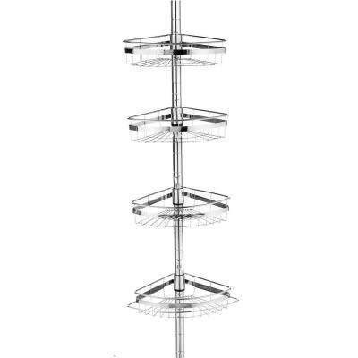 Ultimate 4-Shelf Expandable Shower Caddy in Chrome