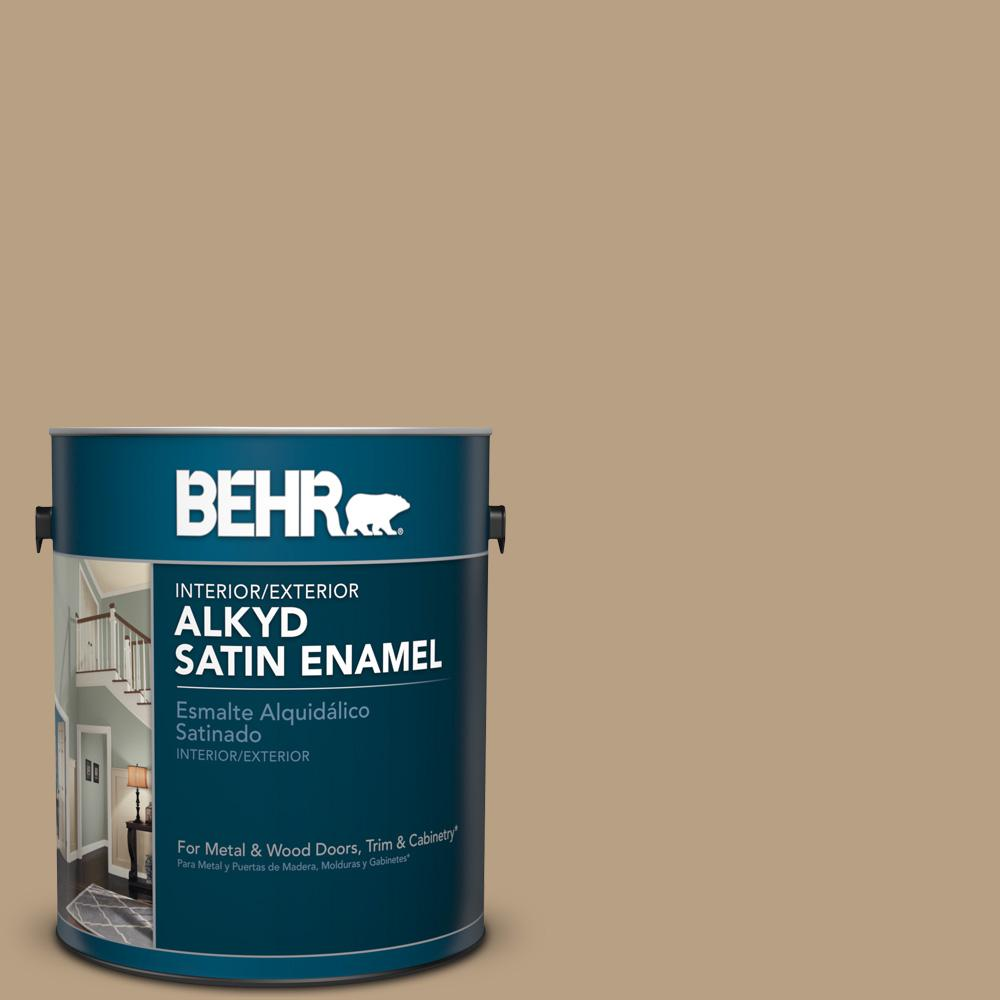 1 gal. #HDC-AC-12 Craft Brown Satin Enamel Alkyd Interior/Exterior Paint