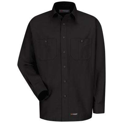 Men's Size 4XL Black Work Shirt