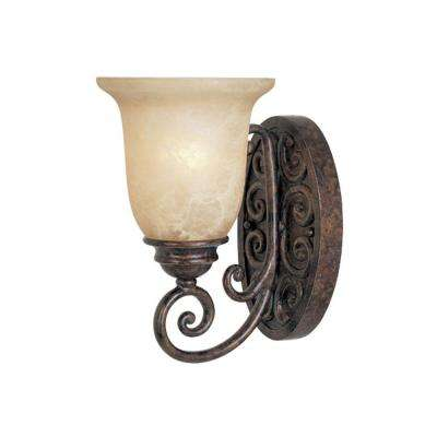 Amherst 1-Light Burnt Umber Wall Sconce