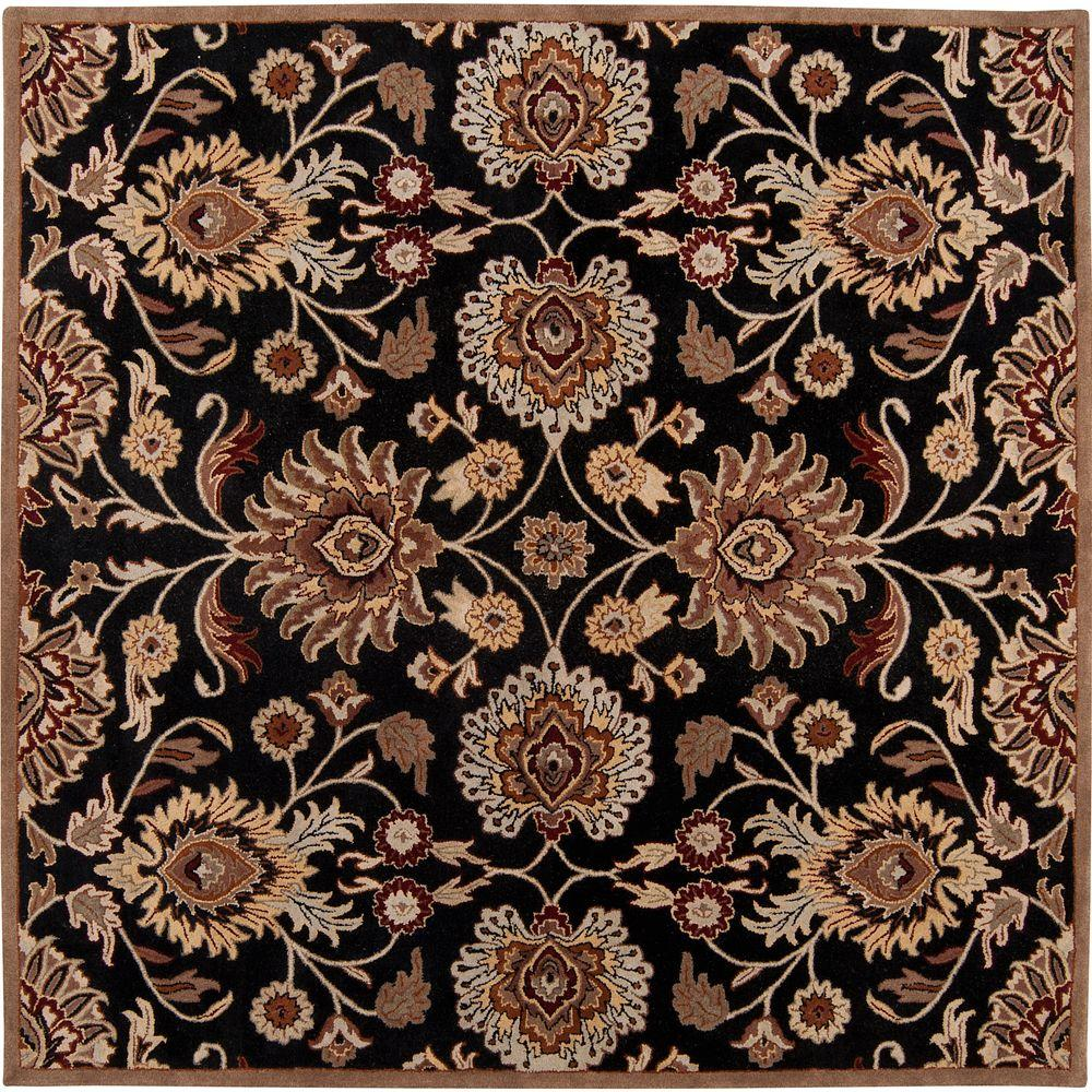 Artes Maroon 8 ft. x 8 ft. Square Area Rug