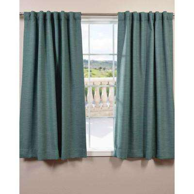 Semi-Opaque Jadite Bellino Blackout Curtain - 50 in. W x 63 in. L (Panel)