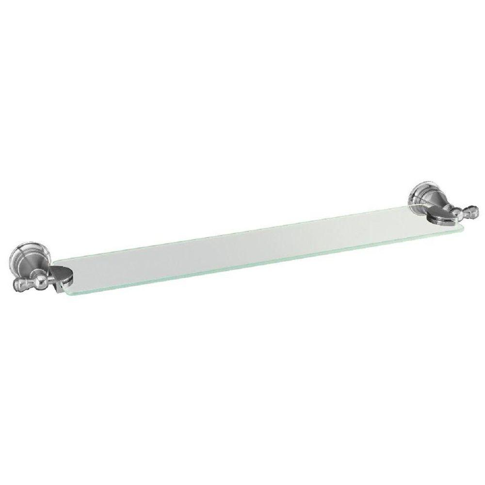 KOHLER Revival 5.75 in. W Wall-Mount Shelf in Glass and Polished Chrome
