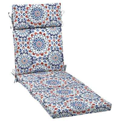 21 in. x 42.5 in. Clark Outdoor Chaise Lounge Cushion