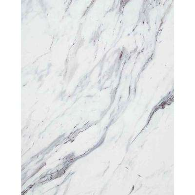 60 in. x 144 in. Laminate Sheet in Calcutta Marble with Premium Textured Gloss Finish