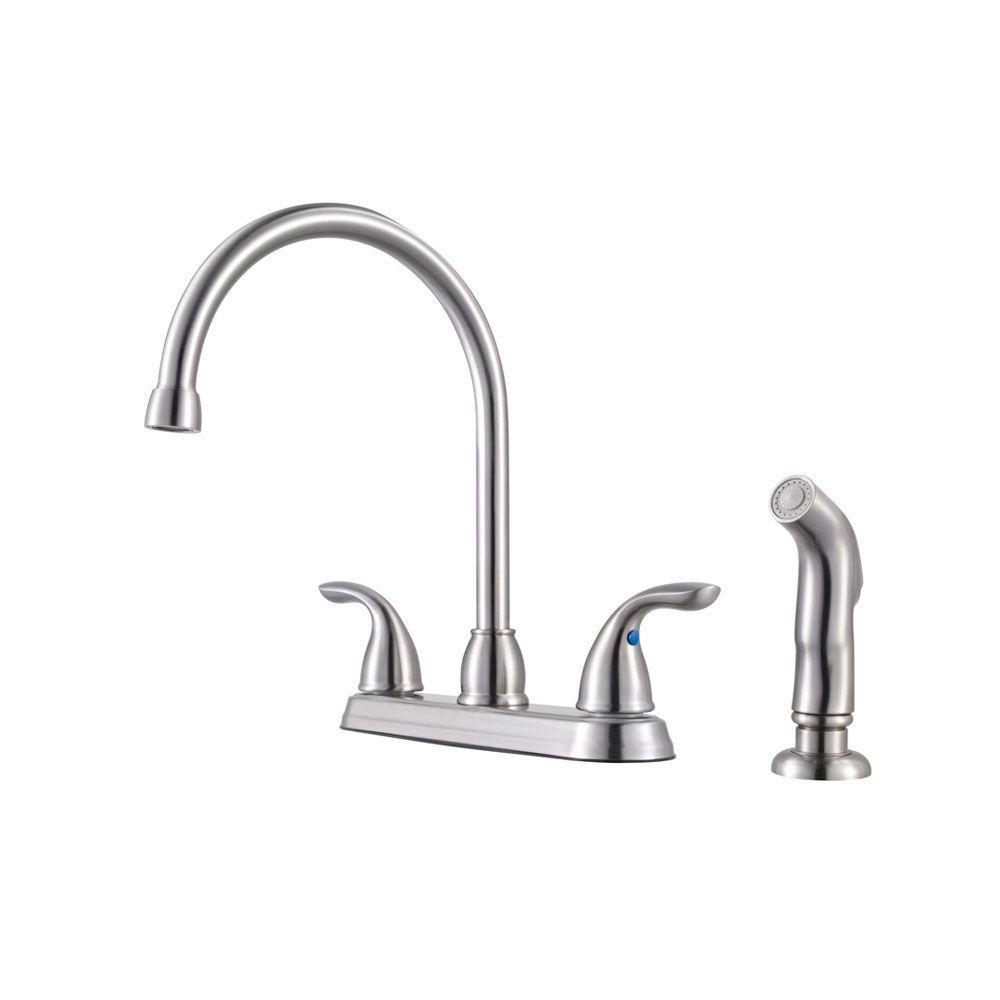 Pfister Pfirst Series 2-Handle Standard Kitchen Faucet with Side ...