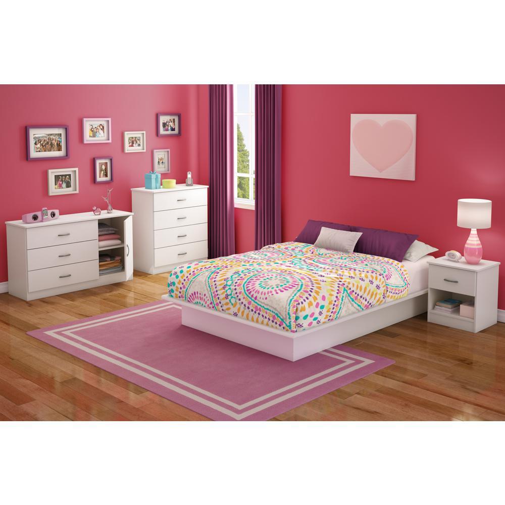Libra 3-Drawer Pure White Dresser