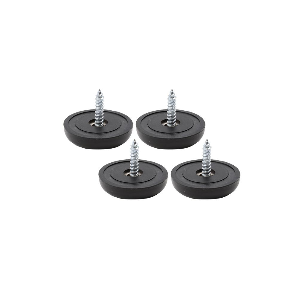 1-1/2 in. Black Heavy-Duty Anti- Skid Pads (4-Pack)