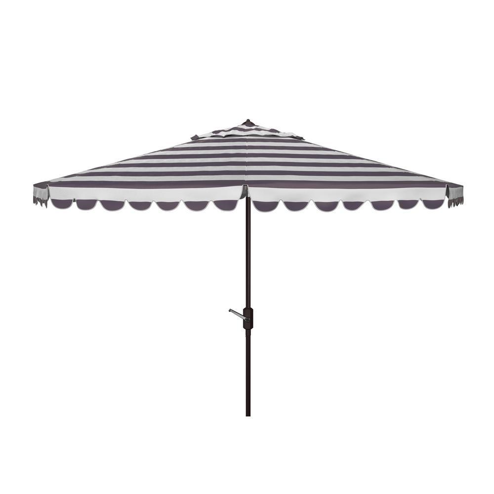 Vienna 11 ft. Aluminum Market Tilt Patio Umbrella in Black/White