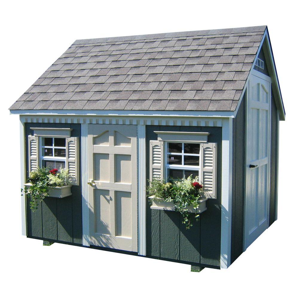 HomePlace Structures 6 ft. x 8 ft. Backyard Cottage Playhouse