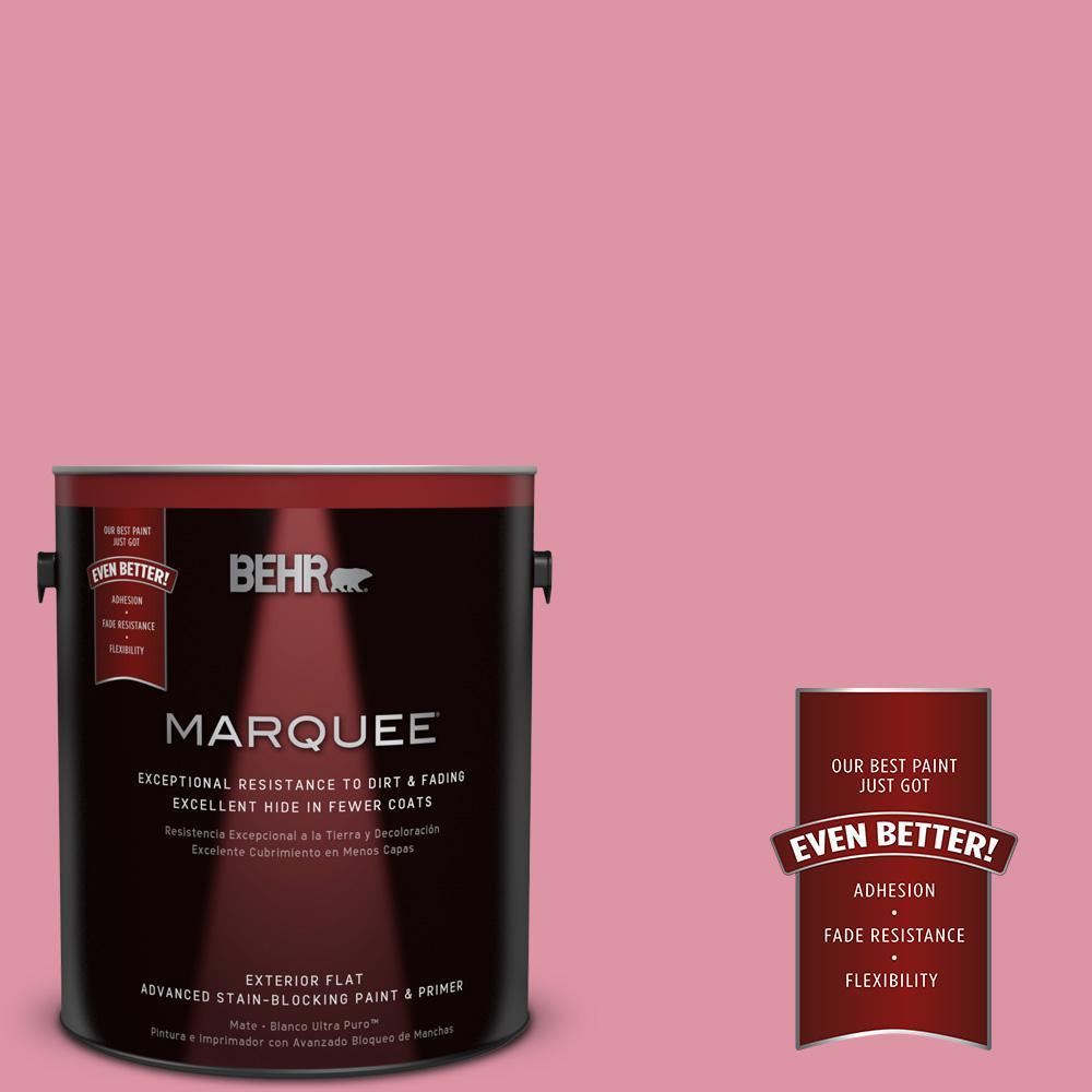 1-gal. #120C-3 Rose Marquis Flat Exterior Paint