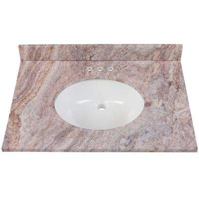 31 in. W x 22 in. D Stone Effects Vanity in Cold Fusion with White Sink