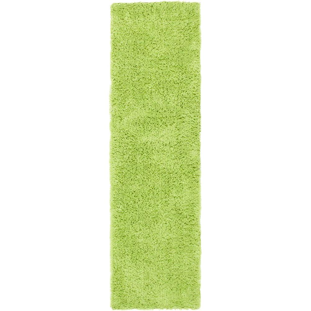 Classic Shag Ultra Lime 2 ft. 3 in. x 8 ft.