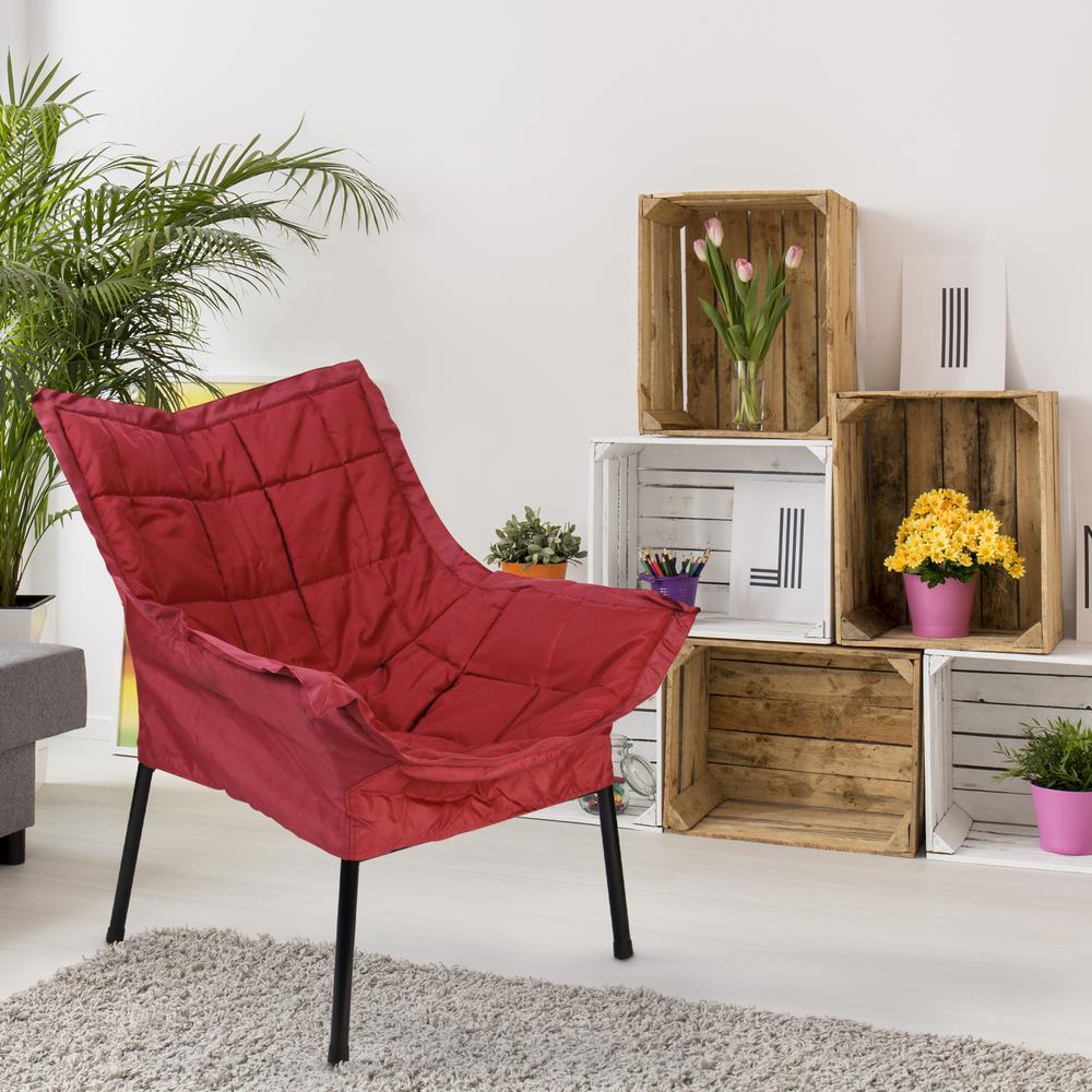 Black Frame/Burgundy Cushion Milano Chair