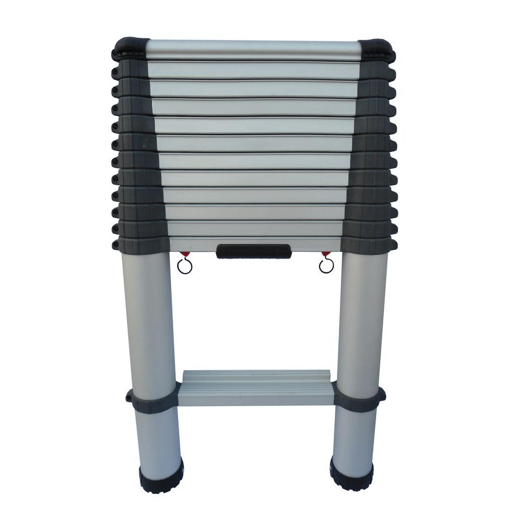 Telescopic Access 12.5 ft. Aluminum Telescopic Ladder with 300 lb. Load Capacity Type 1A Duty Rating