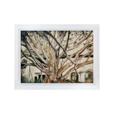 """33 in. x 43 in. """"Highland Park"""" Hand Painted Framed Canvas Wall Art"""