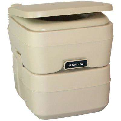 5.0 Gal. SaniPottie 965 Portable Toilet with Mounting Brackets in Tan