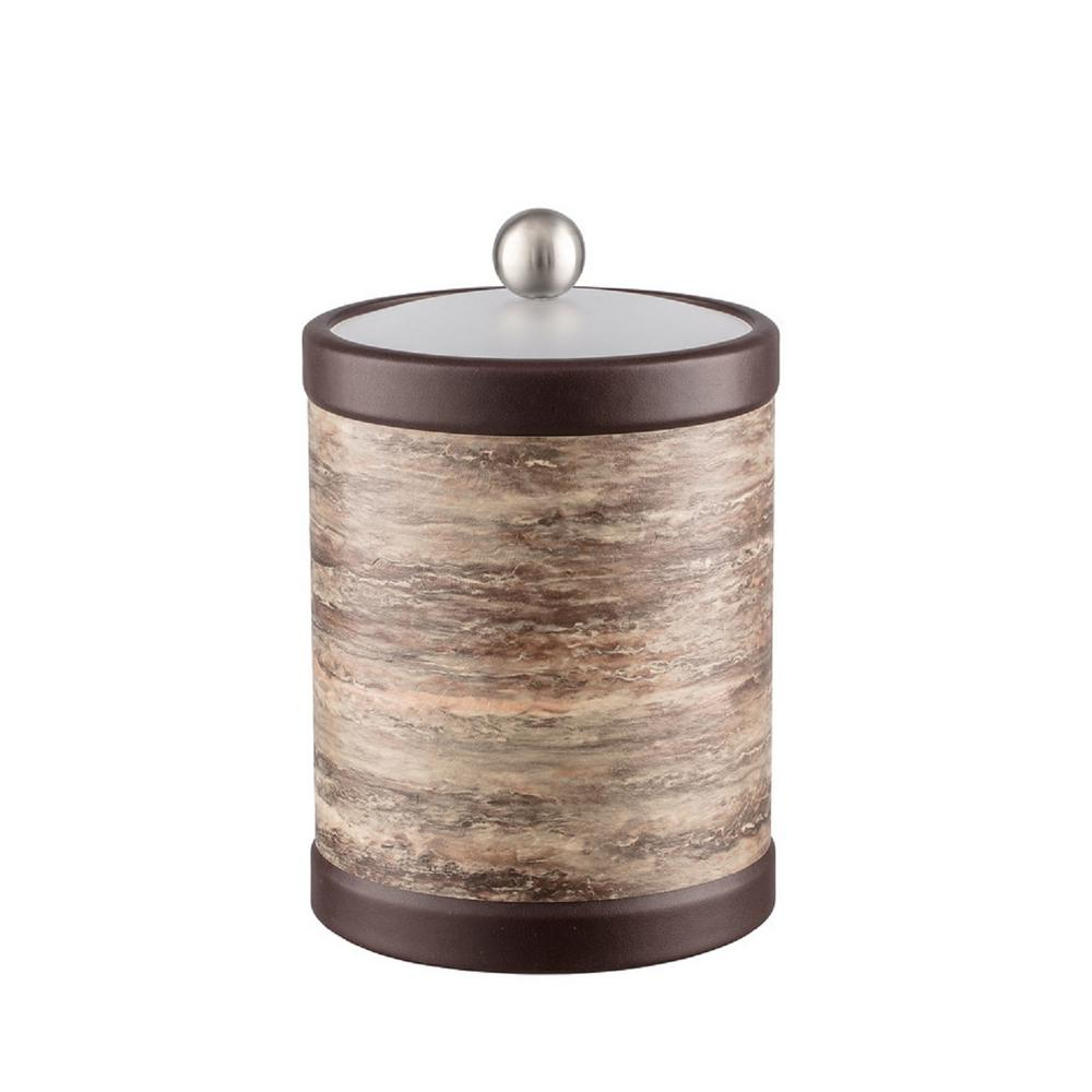 Brown Stone 2 Qt. Brown Tall Ice Bucket with Bale Handle