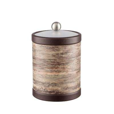 Brown Stone 2 Qt. Brown Tall Ice Bucket with Bale Handle and Acrylic Lid