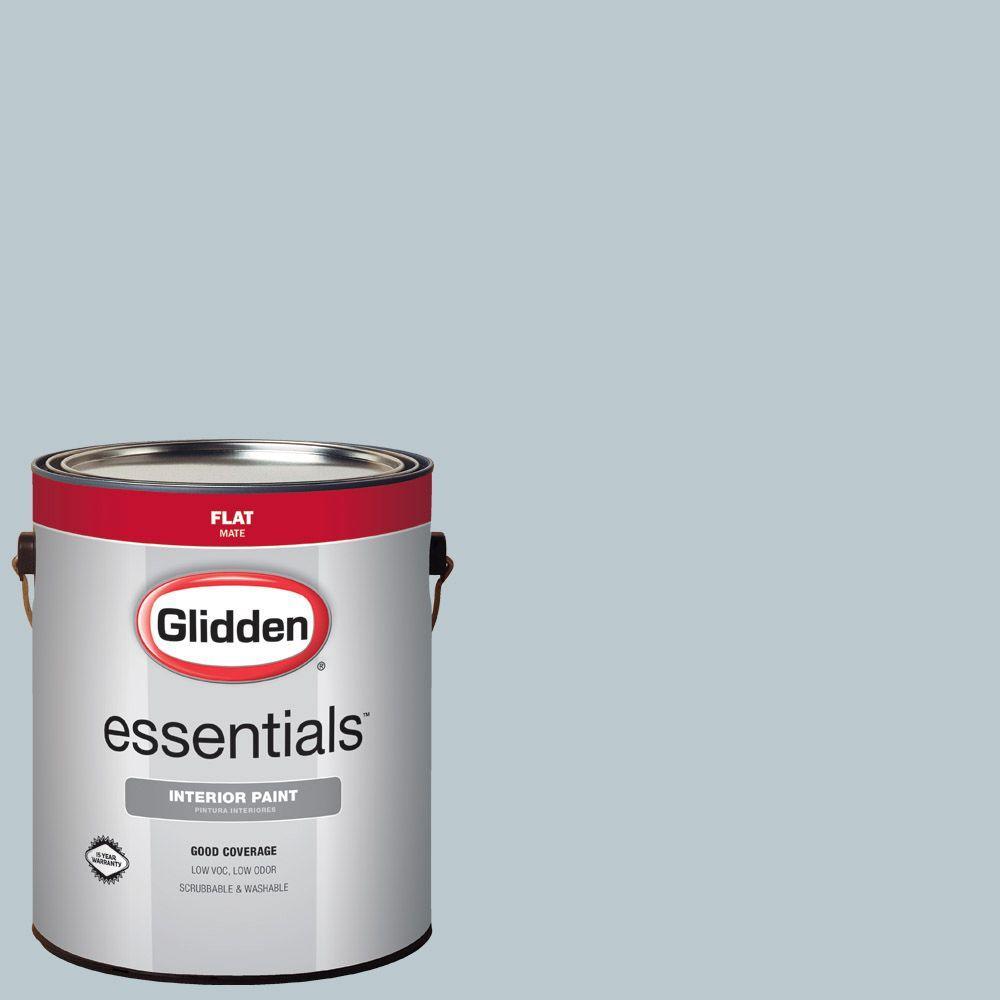 Reviews For Glidden Essentials 1 Gal Hdgcn32 Mild Wind Blue Flat Interior Paint Hdgcn32e 01fn The Home Depot