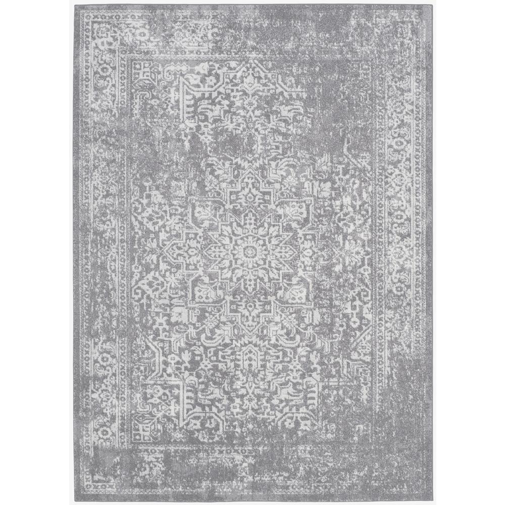 Evoke Silver/Ivory 7 ft. x 9 ft. Area Rug