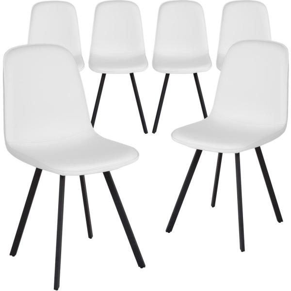 White Dining Chairs (Set of 6)