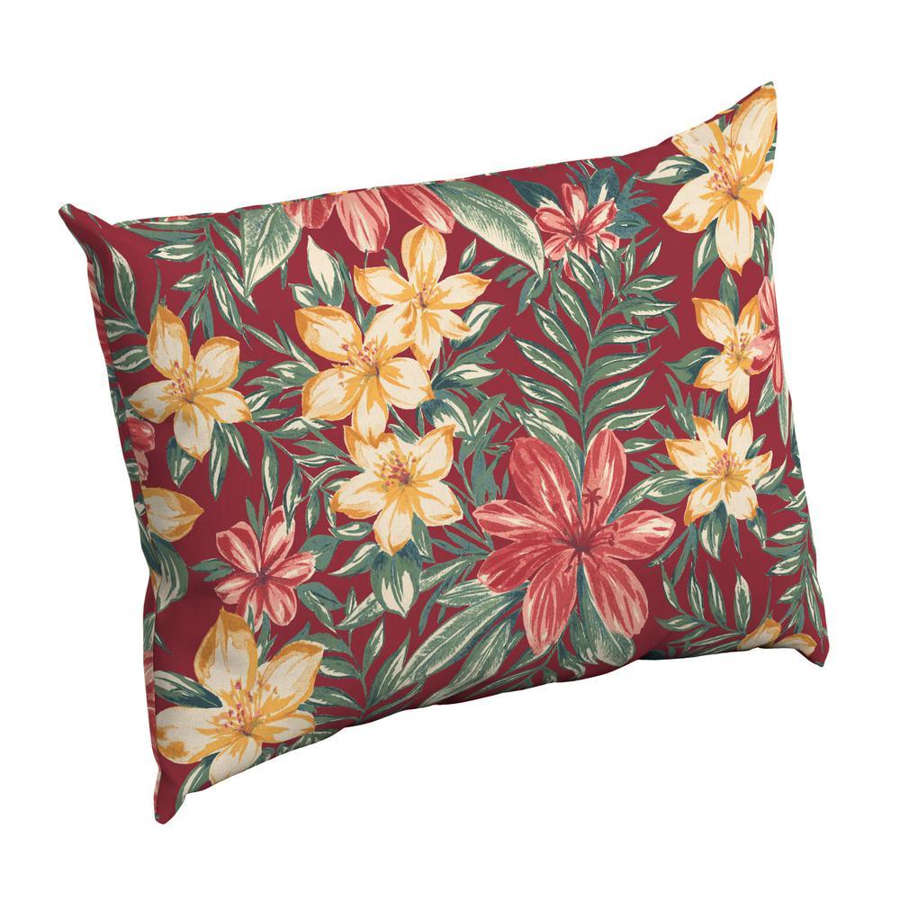 Ruby Clarissa Tropical Rectangle Outdoor Throw Pillow