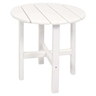 Classics 18 in. White Round Patio Side Table