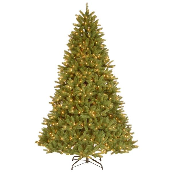 7-1/2 ft. Feel Real Grande Fir Medium Hinged Artificial Christmas Tree with 750 Clear Lights