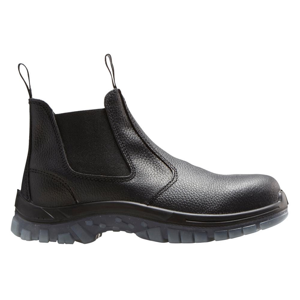 Mack Boots Tradie Men 6 in. Size 15 Black Leather Steel-Toe Slip-On Work Boot