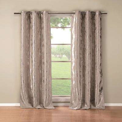 Blair 36 in. x 84 in. L Polyester Blackout Curtain Panel in Taupe (2-Pack)