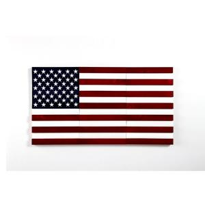 8.3 sq. ft. American Flag Peel and Stick Wall Plank Paneling Kit