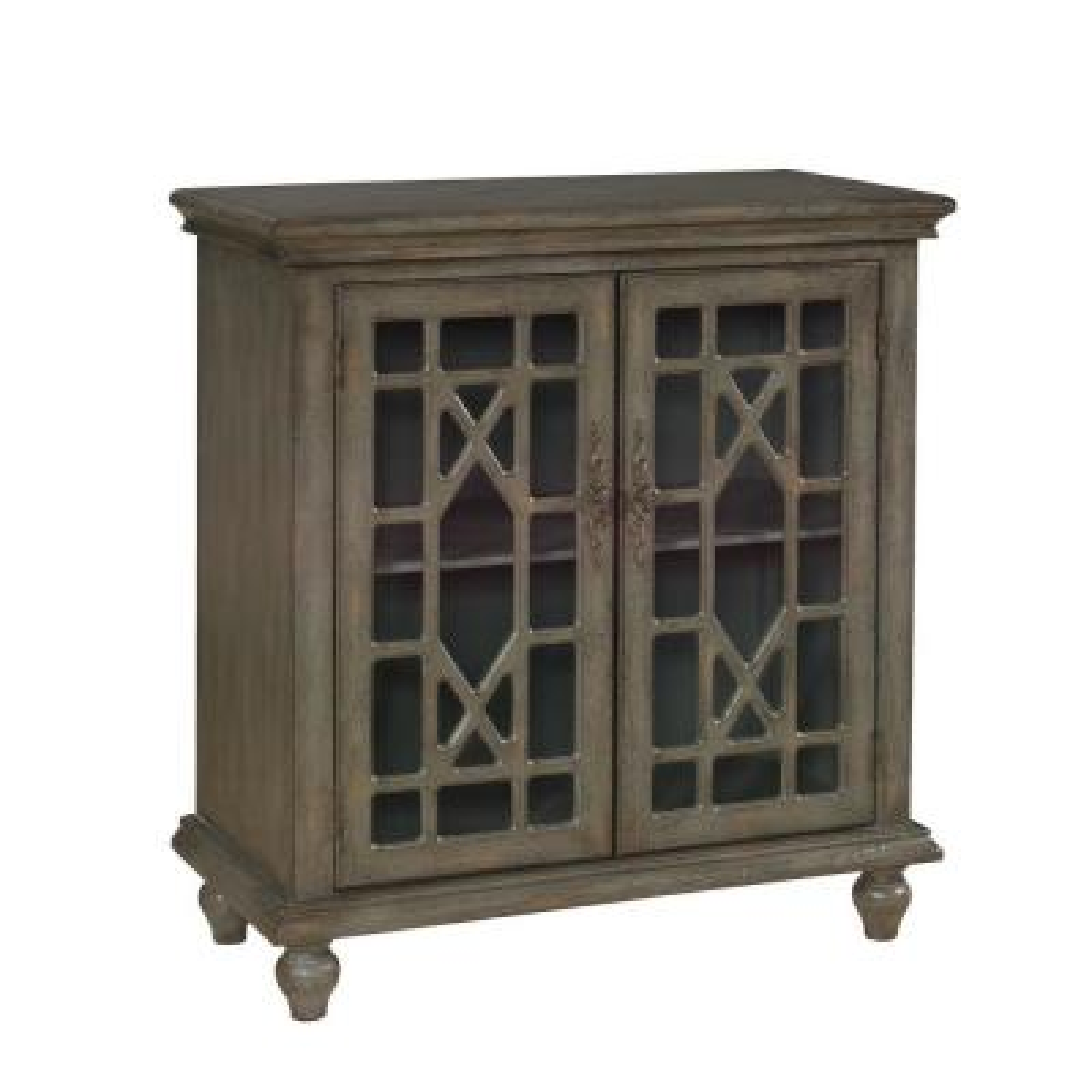 Joplin Texture Grey 2-Door Cabinet
