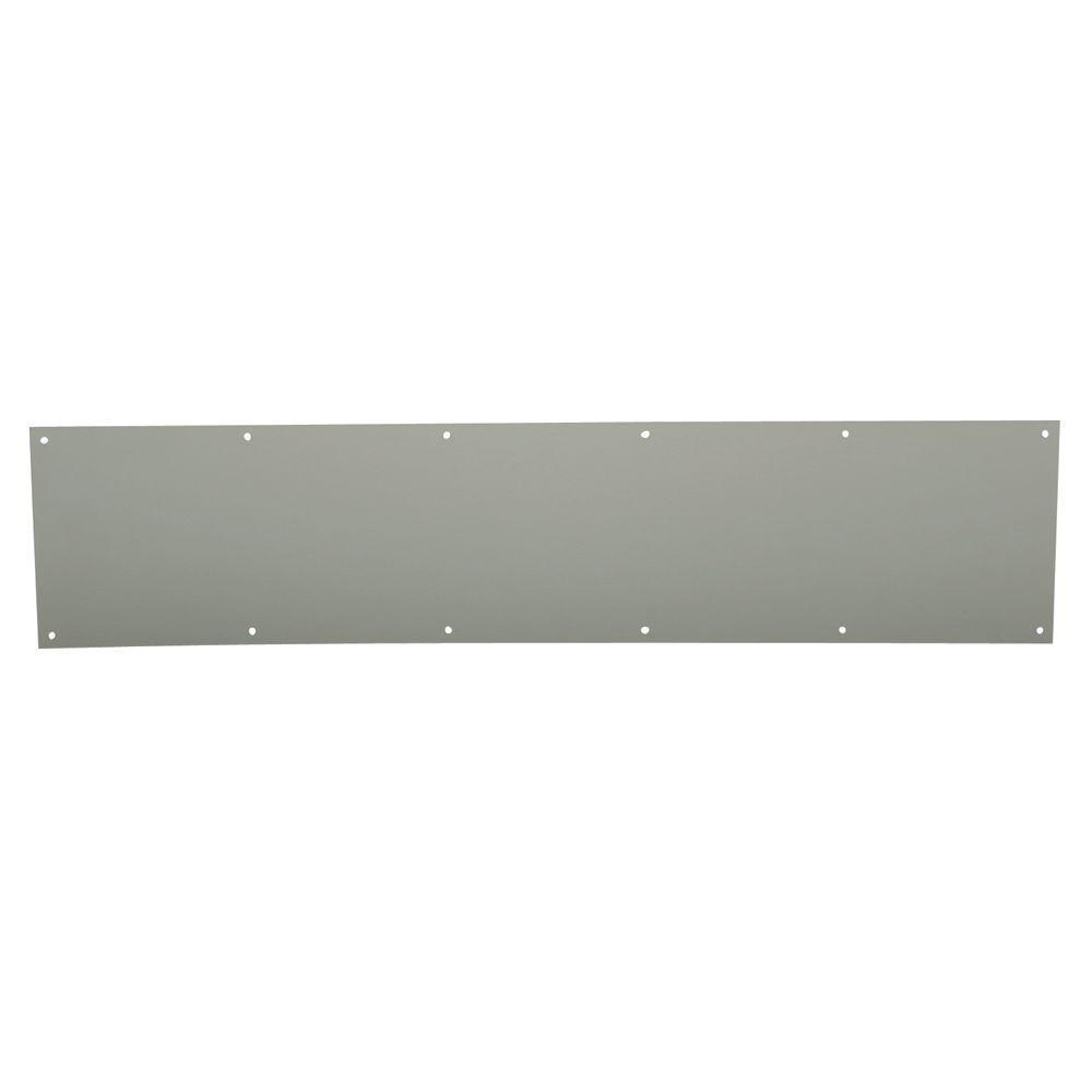10-Inch x 34-Inch Prime-Line J 4965 Door Kick Plate Satin Aluminum Pack of 1