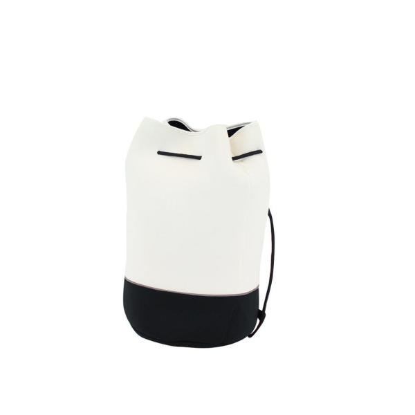 Offshore Drawstring 11.5 in. White/Black Bucket Tote