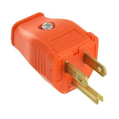 15 Amp 125-Volt 3-Wire Grounding Plug Orange