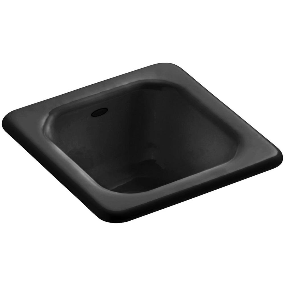 KOHLER Addison Drop-In Cast-Iron 13 in. Single Bowl Entertainment ...