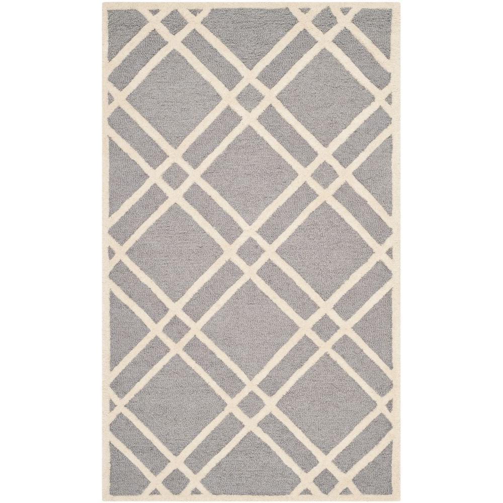 Cambridge Silver/Ivory 3 ft. x 5 ft. Area Rug